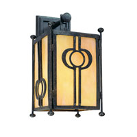 Troy Lighting Aberdeen 1 Light Outdoor Wall Lantern in Fired Iron B5031FI