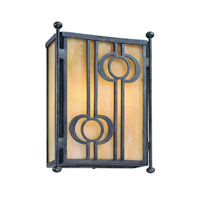 Troy Lighting Aberdeen 2 Light Outdoor Wall Pocket in Fired Iron B5034FI