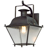 Adams 1 Light 14 inch Colonial Iron Outdoor Wall Lantern