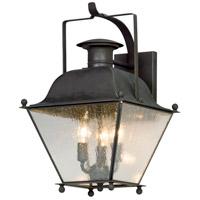 Wellesley 3 Light 19 inch Charred Iron Outdoor Wall Lantern