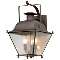 Wellesley 3 Light 19 inch Natural Rust Outdoor Wall Light
