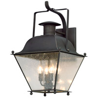 Wellesley 4 Light 24 inch Charred Iron Outdoor Wall Lantern