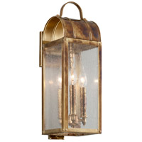 Bostonian 2 Light 19 inch Historic Brass Outdoor Wall Light