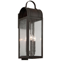 Bostonian 3 Light 22 inch Charred Iron Outdoor Wall Light