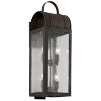 Bostonian 4 Light 23 inch Charred Iron Outdoor Wall Light
