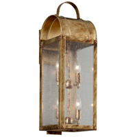 Bostonian 4 Light 23 inch Historic Brass Outdoor Wall Light