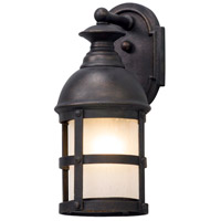 Webster 1 Light 13 inch Vintage Bronze Outdoor Wall Light in Incandescent
