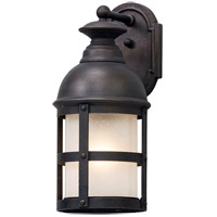 Webster 1 Light 18 inch Vintage Bronze Outdoor Wall Light in Incandescent