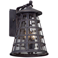 Benjamin 3 Light 14 inch Vintage Iron Outdoor Wall Light