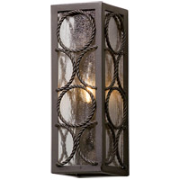 Bacchus 1 Light 14 inch Textured Bronze Outdoor Wall Light