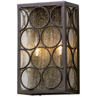Bacchus 2 Light 14 inch Textured Bronze Outdoor Wall Light