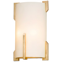 Quantum 2 Light 8 inch Gold Leaf ADA Wall Sconce Wall Light