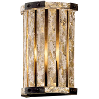 Stix 2 Light 8 inch Antique Gold Leaf Wall Sconce Wall Light