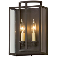 Troy Lighting Maddox - Wall Sconce - Textured Bronze Finish - Clear Glass B5342