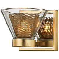Wink LED 5 inch Gold Leaf and Polished Chrome Bath Vanity Wall Light, Clear Glass