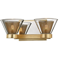 Troy Lighting B5822 Wink LED 13 inch Gold Leaf and Polished Chrome Bath Vanity Wall Light Clear Glass