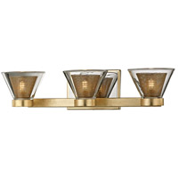 Wink LED 20 inch Gold Leaf and Polished Chrome Bath Vanity Wall Light, Clear Glass