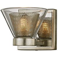 Troy Lighting B5831 Wink LED 5 inch Silver Leaf and Polished Chrome Bath Vanity Wall Light Clear Glass