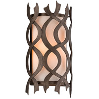 Troy Lighting B6101 Mai Tai 1 Light 8 inch Cottage Bronze Wall Sconce Wall Light, Natural Linen Glass