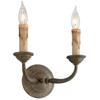 Cyrano 2 Light 11 inch Earthen Bronze Wall Sconce Wall Light