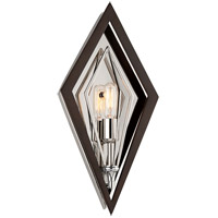 Javelin 1 Light 8 inch Bronze and Polished Stainless ADA Wall Sconce Wall Light
