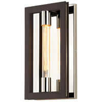 Enigma 1 Light 8 inch Bronze with Polished Stainless ADA Wall Sconce Wall Light