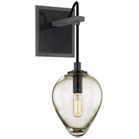Troy Lighting B6201 Brixton 1 Light 6 inch Gunmetal with Smoked Chrome Wall Sconce Wall Light