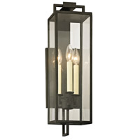 Troy Lighting B6382 Beckham 3 Light 22 inch Forged Iron Outdoor Wall Sconce  photo thumbnail