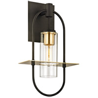Troy Lighting B6392 Smyth 1 Light 18 inch Dark Bronze with Brushed Brass Outdoor Wall Sconce
