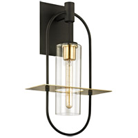 Troy Lighting B6393 Smyth 1 Light 22 inch Dark Bronze with Brushed Brass Outdoor Wall Sconce