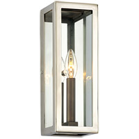 Troy Lighting B6511 Morgan 1 Light 13 inch Bronze with Polished Stainless Outdoor Wall Sconce