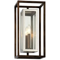 Morgan 1 Light 8 inch Bronze with Polished Stainless Wall Sconce Wall Light