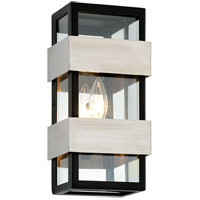 Troy Lighting B6521 Dana Point 1 Light 12 inch Textured Black with Brushed Stainless Steel Outdoor Wall Sconce