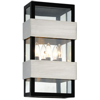Troy Lighting B6523 Dana Point 3 Light 19 inch Textured Black with Brushed Stainless Steel Outdoor Wall Sconce