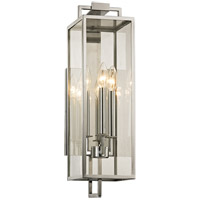 Troy Lighting B6532 Beckham 3 Light 6 inch Polished Stainless Wall Sconce Wall Light