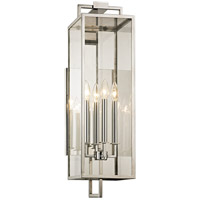 Troy Lighting B6533 Beckham 4 Light 8 inch Polished Stainless Wall Sconce Wall Light