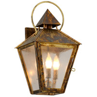 Allston 3 Light 10 inch Historic Brass Wall Sconce Wall Light