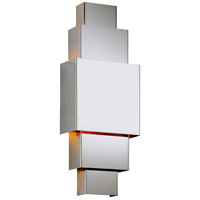 Figueroa LED 8 inch Polished Stainless ADA Wall Sconce Wall Light in Polished Stainless Steel