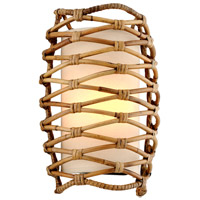 Troy Lighting B6741 Balboa 1 Light 10 inch Bronze and Natural Rattan Wall Sconce Wall Light photo thumbnail