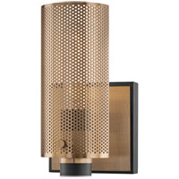 Troy Lighting B6871 Pilsen 1 Light 5 inch Modern Bronze and Aged Brass Wall Sconce Wall Light
