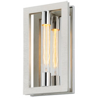 Troy Lighting B7101 Enigma 8 inch Silver Leaf with Stainless Accents ADA Wall Sconce Wall Light