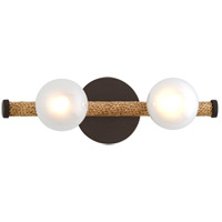 Troy Lighting B7262 Nomad 2 Light 16 inch Classic Bronze and Natural Bath and Vanity Wall Light