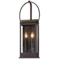 Troy Lighting B7422 Holmes 2 Light 10 inch Bronze and Brass Wall Sconce Wall Light