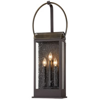 Troy Lighting B7423 Holmes 3 Light 12 inch Bronze and Brass Wall Sconce Wall Light