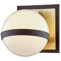 Troy Lighting B7471 Ace 1 Light 6 inch Textured Bronze Brushed Brass Bath and Vanity Wall Light