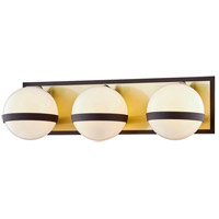 Troy Lighting B7473 Ace 3 Light 20 inch Textured Bronze Brushed Brass Bath and Vanity Wall Light