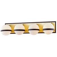 Troy Lighting B7474 Ace 4 Light 27 inch Textured Bronze Brushed Brass Bath and Vanity Wall Light