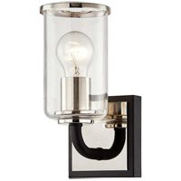 Troy Lighting B7681 Aeon 1 Light 5 inch Carbide Black and Polished Nickel Bath and Vanity Wall Light