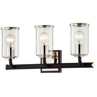Troy Lighting B7683 Aeon 3 Light 20 inch Carbide Black and Polished Nickel Bath and Vanity Wall Light