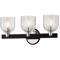 Troy Lighting B7713 Munich 3 Light 19 inch Carbide Black & Polished Nickel Bath and Vanity Wall Light